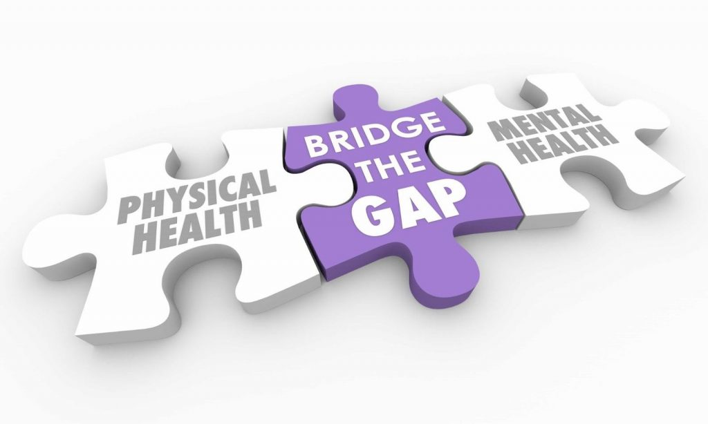 Physical health is a puzzle piece completed by mental health